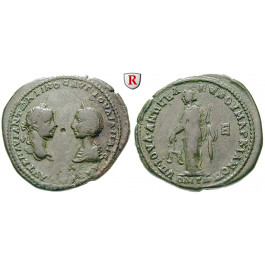 Römische Provinzialprägungen, Thrakien-Donaugebiet, Markianopolis, Julia Maesa, Großmutter des Elagabal, Bronze, f.ss