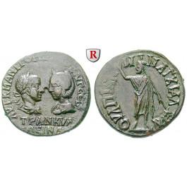 Römische Provinzialprägungen, Thrakien, Anchialos, Tranquillina, Frau Gordianus III., Bronze, ss