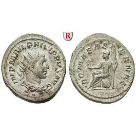 Römische Kaiserzeit, Philippus I., Antoninian 244-247, vz+