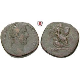 Römische Kaiserzeit, Commodus, Sesterz 184-185, s