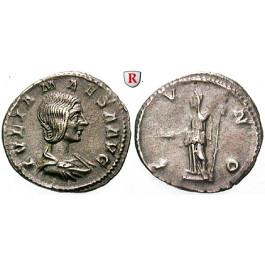 Römische Kaiserzeit, Julia Maesa, Großmutter des Elagabal, Denar, ss+