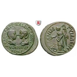 Römische Provinzialprägungen, Thrakien, Anchialos, Tranquillina, Frau Gordianus III., 5 Assaria, ss-vz/vz