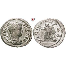 Römische Kaiserzeit, Caracalla, Denar 204, vz