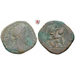 Römische Kaiserzeit, Commodus, Sesterz 183-184, f.ss