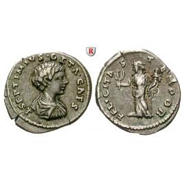 Römische Kaiserzeit, Geta, Caesar, Denar 198, ss