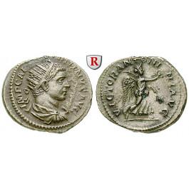 Römische Kaiserzeit, Elagabal, Antoninian 219 n.Chr., ss-vz