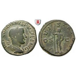 Römische Kaiserzeit, Gordianus III., Sesterz 241-243, ss