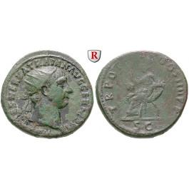 Römische Kaiserzeit, Traianus, Dupondius 101-102, ss