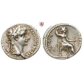 Römische Kaiserzeit, Tiberius, Denar 14-37, ss
