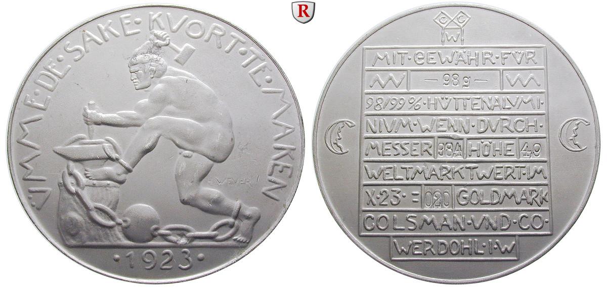 Städtenotgeld Deutschland Westfalen 020 Goldmark 1923 Fst