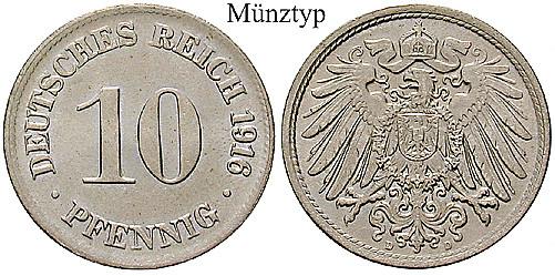 Deutsches Kaiserreich 10 Pfennig 1903 G Ss J 13