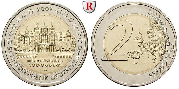 Bundesrepublik Deutschland Gedenkprägungen 2 Euro 2007 Nach