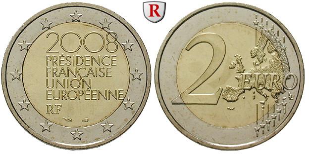 Frankreich 2 Euro 2008 Bfr