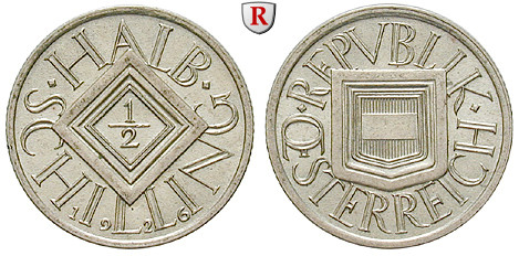 österreich 1 Republik 12 Schilling 1926 Fst