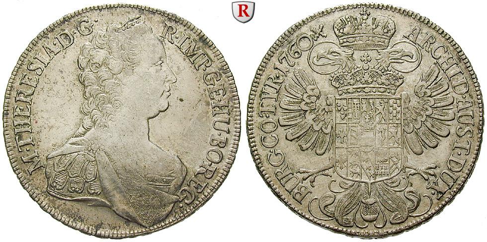 Römisch Deutsches Reich Maria Theresia Taler 1760 Ss