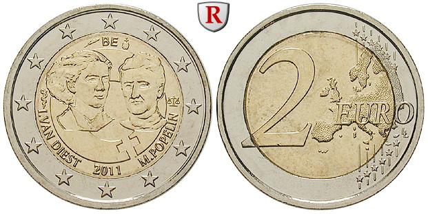 Belgien Königreich Albert Ii 2 Euro 2011 Bfr