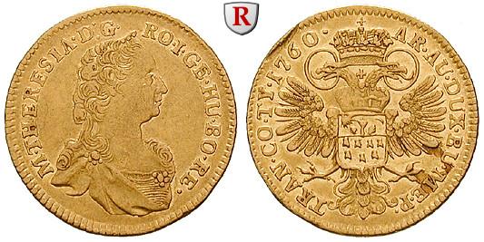 Römisch Deutsches Reich Maria Theresia Dukat 1760 Fvz