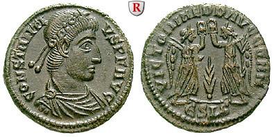 Römische Kaiserzeit Constantius Ii Bronze 347 348 Fvz