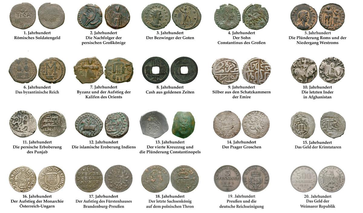 20 Münzen Aus 20 Jahrhunderten