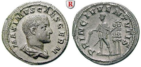 Römische Kaiserzeit Maximus Caesar Denar 235 236 Vz