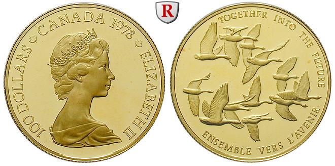 Kanada Elizabeth Ii 100 Dollars 1978 Pp