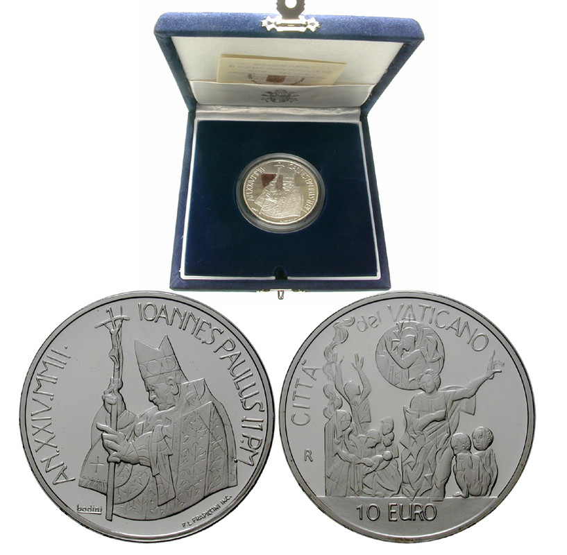 Münzen Des Auslands Johannes Paul Ii 10 Euro 2002 Pp