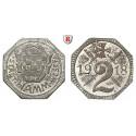 Städtenotgeld Deutschland, Westfalen, Stadt Hamm, 2 Pfennig 1918, vz-st
