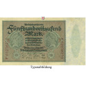 Inflation 1919-1924, 500000 Mark 01.05.1923, I-, Rb. 87f
