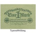Inflation 1919-1924, 1 Mark 15.09.1922, I, Rb. 73a