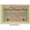Inflation 1919-1924, 50 Mio Mark 01.09.1923, I, Rb. 108e