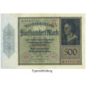 Inflation 1919-1924, 500 Mark 27.03.1922, II, Rb. 70