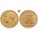 Italien, Königreich, Vittorio Emanuele III., 20 Lire 1912, 5,81 g fein, f.st