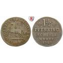 Braunschweig, Braunschweig-Wolfenbüttel, Karl, 1 1/2 Pfennig 1747, ss