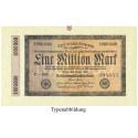 Inflation 1919-1924, 1 Mio Mark 25.07.1923, II-, Rb. 93
