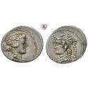 Römische Republik, L. Cassius Longinus, Denar 78 v.Chr., f.vz