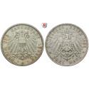 Deutsches Kaiserreich, Lübeck, 3 Mark 1908, A, vz-st, J. 82