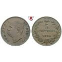 Italien, Königreich, Umberto I., 5 Centesimi 1896, f.vz