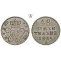 Mecklenburg, Mecklenburg-Strelitz, Friedrich Wilhelm, 1/48 Taler 1864, ss-vz
