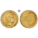 Grossbritannien, George I., Quarter-Guinea 1718, f.vz