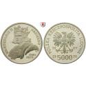 Polen, Volksrepublik, 5000 Zlotych 1989, PP