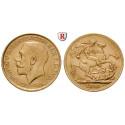 Grossbritannien, George V., Sovereign 1911-1925, 7,32 g fein, ss-vz