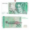 Bundesrepublik Deutschland, 20 DM 01.08.1991, I-, Rb. 298b