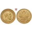 Russland, Alexander III., 5 Rubel 1889, 5,81 g fein, ss+