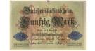 1. Weltkrieg 1914-1918, 50 Mark 05.08.1914, III, Rb. 50b