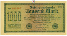 Inflation 1919-1924, 1000 Mark 15.09.1922, I, Rb. 75d