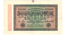 Inflation 1919-1924, 20000 Mark 20.02.1923, II, Rb. 84f