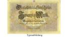 1. Weltkrieg 1914-1918, 20 Mark 05.08.1914, III, Rb. 49a