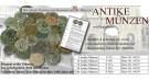 50 original antike Münzen aus Griechenland, Rom und Byzanz+Text