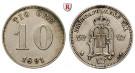 Schweden, Oskar II., 10 Öre 1891, vz
