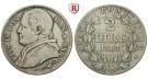 Vatikan, Pius IX., 2 Lire 1867 (Jahr XXII), ss